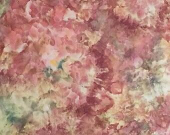 Ice Dyed Fabric, Cactus Blooms, Fat Quarter (LS) #226