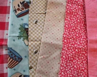 Fabric Remnants - The Cottage collection