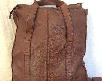 15%OFF VACATION SALE Genuine Vintage Banana Republic Brown Leather Satchel Bag