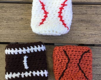 Baseball, Football, Basketball Beer / Soda Cozy