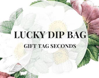 LUCKY DIP - Handmade gift tags seconds SALE, product tags, stock tags, coloured tags, gift wrapping tags, kraft paper tags, etsyuk gift wrap