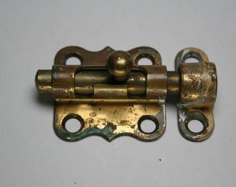Vintage Brass Barrel Bolt - Furniture/Cabinet Hardware