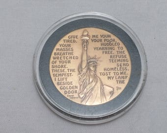 1986 Statue of Liberty Centennial Bronze Medal Coin - 100 year anniversary - Capsuled, uncirculated
