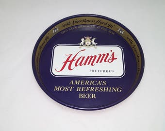 Vintage Hamm's Beer Tray - Hamm's Preferred - America's Most Refreshing Beer -  Breweriana, Barware - Great Cosmetic Condition!
