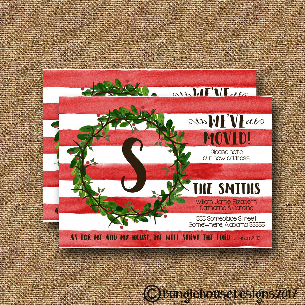 We've Moved Christmas Change Of Address Card New