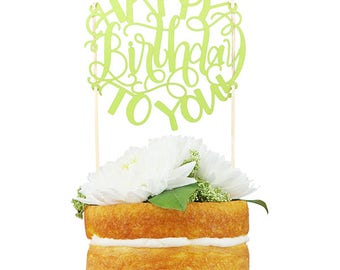 Happy Birthday To You! Paper Cake Topper