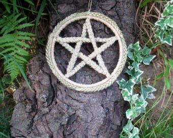 Pagan Wiccan Lammas Celtic Wheat Altar Pentacle  Wreath. Handfasting Gift.  Abundance. Home Blessing.