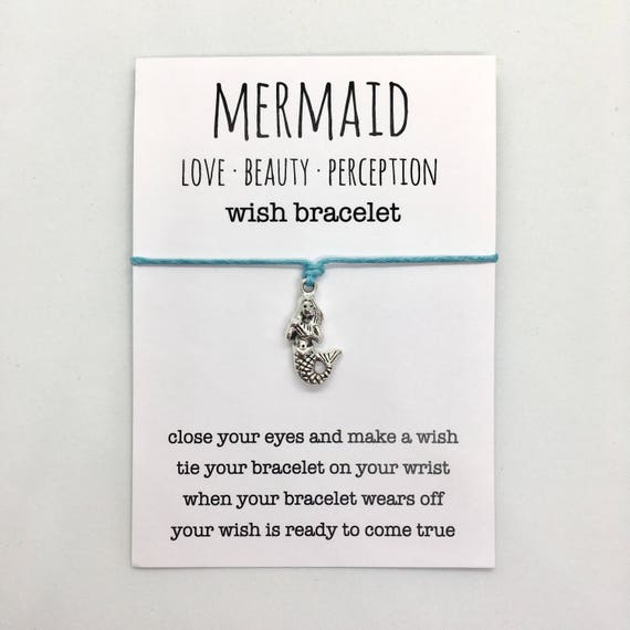 wish bracelet, mermaid bracelet, beach anklet, party favour, friendship bracelet, beach jewelry, mermaid jewelry, bridesmaid gift