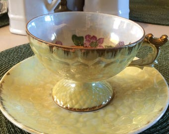 Teacup, Vintage, Fruit Motif
