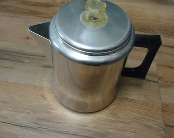 Vintage  mirro coffee pot 8 cup ,M 0807