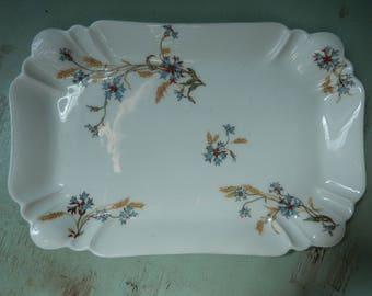 Haviland Limoges Platter - Limoges Serving Plate - Limoges Dresser Tray - Antique Fine Porcelain  - French China - Rectangular Dish