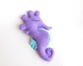 Plush toy seahorse, nautical world, sea world nursery, ocean fish, aquatic animal, nautical baby shower gift under the sea, under the water