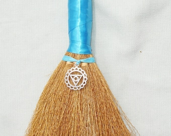 Third Eye Chakra Hand Besom for Wiccan and Pagan Rituals - 12 inches