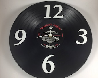 Vinyl LP Record Wall Clock