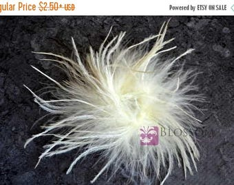 ON SALE IVORY - The Stephanie Collection - Ostrich Puffs - Diy Flower Headband Supplies - Feather Marabou Curly Ostrich Flower Blossom Suppl
