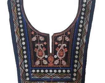 Ethnic Collar Patch Necklace, Embroidered Yoke Applique,Ethnic Embroidered Sewing Collar