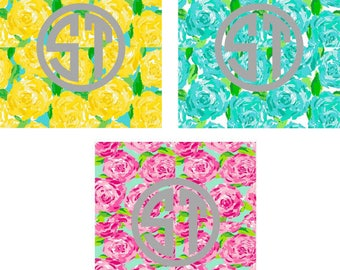 First Impressions Lilly Pulitzer printed indoor, outdoor, glitter, & metallic decal VINYL or heat transfer vinyl HTV or applique FABRIC