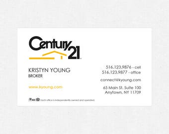 """Century 21 business card magnets - 2""""x3.5""""- FREE UPS ground shipping"""