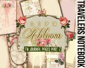 Fauxdori Inserts - Life Abloom - TN Journal Pages Part 2 - 8 Printable Midori Insert Pages - traveler notebook, junk journal kit