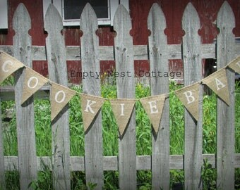 Cookie Bar Burlap Banner, Burlap cookie bar garland, Cookie bar sign, Wedding burlap banner, Cookie Bar bunting