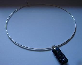 Swarovski Growing Crystal Bermuda Blue Pendant, Sterling Silver Choker