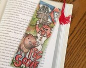 Arkansas Razorbacks Bookmark // Hogs Book Lover Gift  // Stocking Stuffer for Reader // Pig Sooie // University of Arkansas