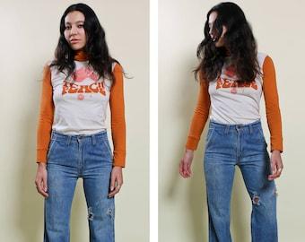 70s Distressed LEVIS Orange Tab Jeans Size 27/28″ Waist