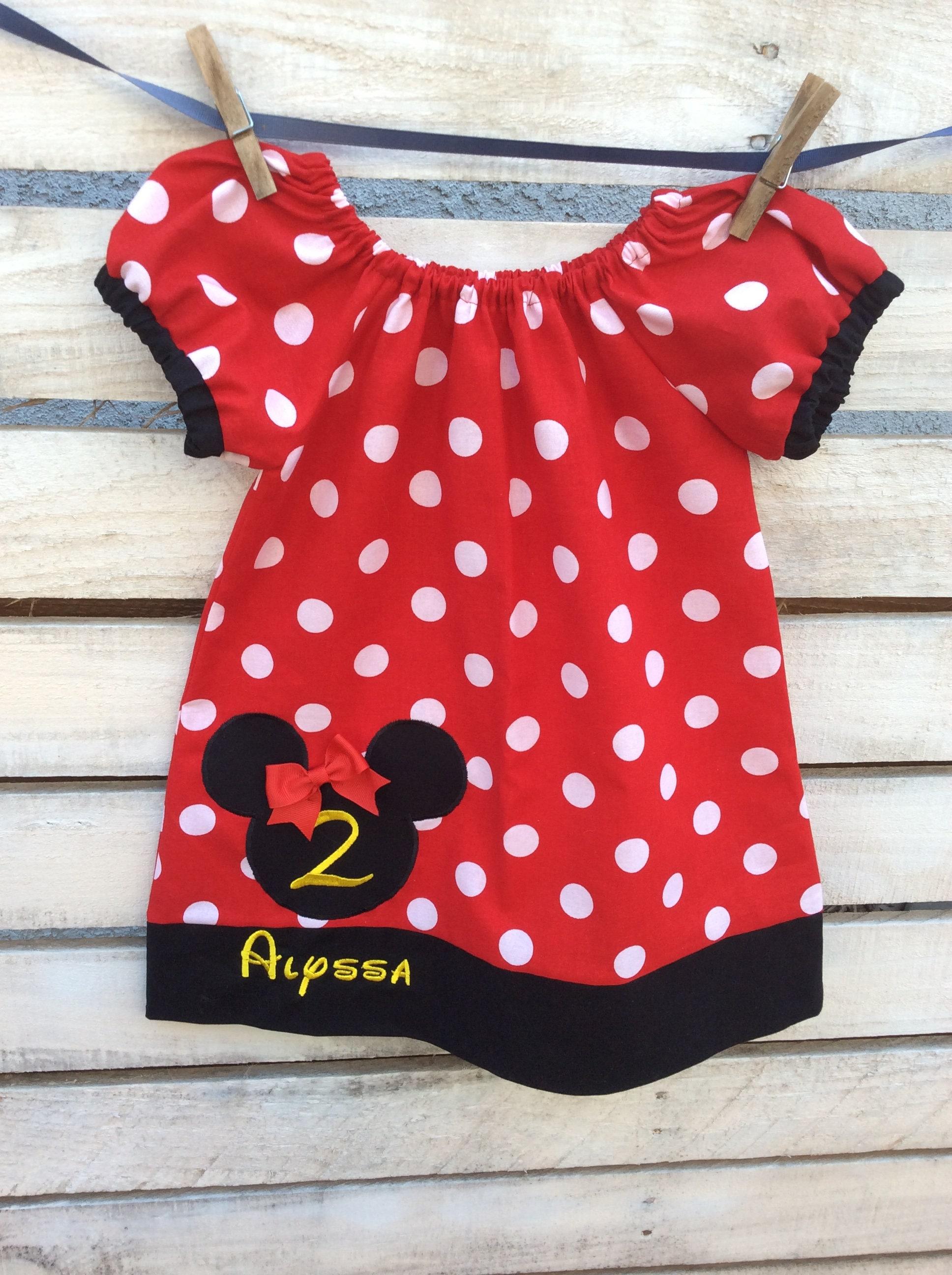 Minnie Mouse Birthday Dress, Minnie Mouse Dress, Birthday Dress ...