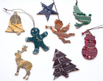 Christmas ornament set - Pick your quantity, shape and colors, Holiday decor, Christmas decoration