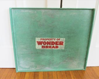 Vintage Wonder Bread Delivery Tray Retro 1960's Advertising Collectible Bakery Tray