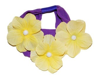 Flower Trio Nylon Headband