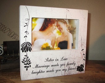 Wedding Sister in law frame Sister in Law Gift Frame Sister in law gift idea Sister in law birthday or Wedding Frame Gift