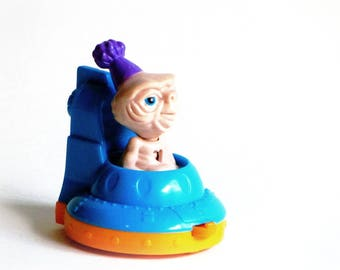 E.T. McDonald's Happy Meal Toy 1994 Extra Terrestrial Rolling Spaceship Birthday Cake Topper