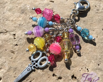 Hair Stylist Gift, Couponer Gift, Seamstress Gift, Scrapbooker Gift, Scissor Purse Charm, Scissor Gift, Wallet Charm, Crafter Gift