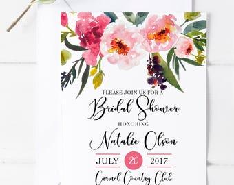 Bridal Shower Invitation Printed, Digital Bridal Shower Invitation,Wedding Shower Invitation,Rustic Invitation,Bridal Shower, Wedding,Bridal