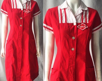 Midcentury woolco uniform dress
