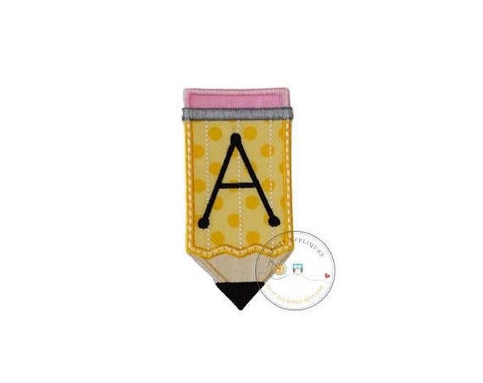 Pencil iron on applique