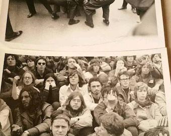 Lot of 2 Vintage 1969 Vietnam Moratorium Anti War March on Washington DC Police Protest, Black and White Investigation Photographs