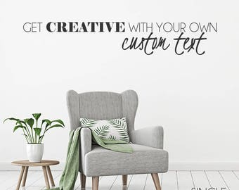 Custom Wall Decals Etsy - Custom vinyl wall decals sayings for homecustom wall decal quotes custom wall quote two colors decal