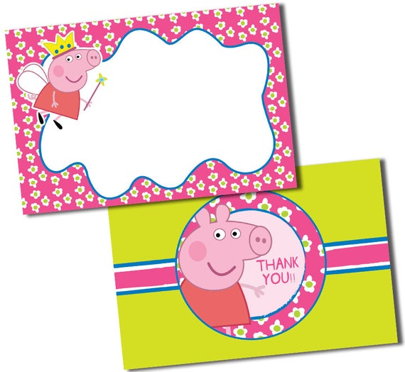 Peppa Pig Thank You Cards Peppa Pig Thank You Notes Peppa Pig Cards