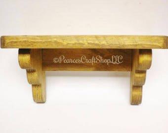 Shelf - Made To Order, Wood Shelving, Primitive Shelves, Country Accent Shelf, Handmade Shelves, Farmhouse Self