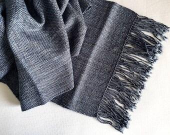 Plaiding Scarf - Handwoven - Merino, Silk, Cashmere - Winter's Rest
