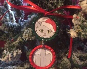 Cat Bottle Cap Ornament