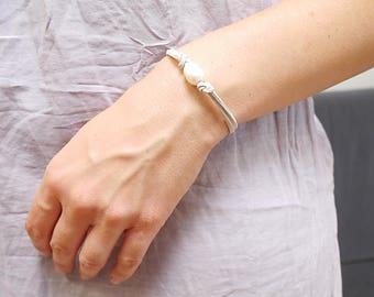 Freshwater pearl Bracelet, Beach bracelet, Boho style wedding, freshwater pearl jewelry, Wedding Bridesmaid, Birthstones June, gift for her