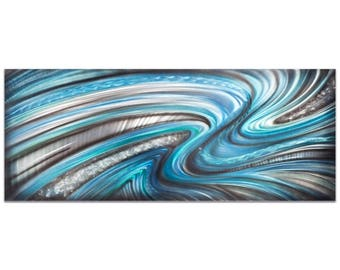 Abstract Wall Art 'Beyond the Waves' by Nicholas Yust - Urban Decor Contemporary Color Layers Artwork on Metal or Plexiglass