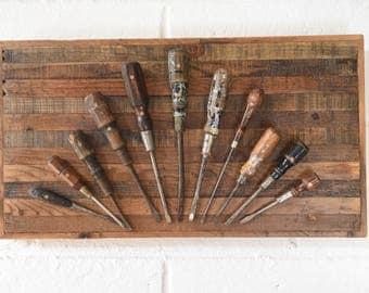 Vintage Screw Driver Handmade Display