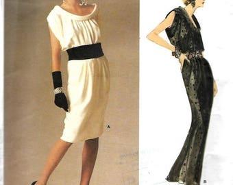 ON SALE Vogue 1720 Paris Original Yves Saint laurent Bias Roll Collar Dress Pattern, Size 10