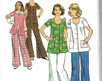 ON SALE Simplicity 6179 Misses Maternity Pattern, Bell Bottoms, Straight Leg Pants And Top, Size 18, Bust 40, UNCUT