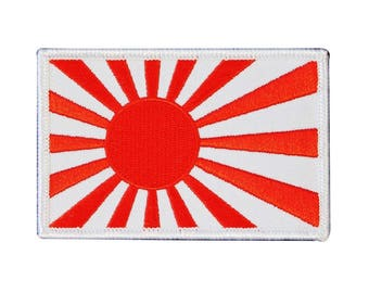Japanese Rising Sun Military Flag Iron-On Patch Japan Craft Embroidered Applique