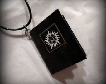 Supernatural Carry On Wayward Son Entire Song Lyrics Book Pendant Handmade